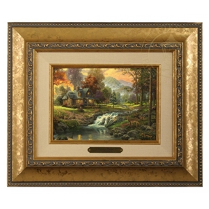 Mountain Retreat Brushwork Gold