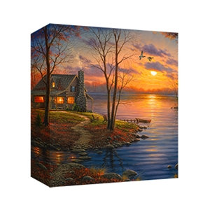 Sunset Cove by Abraham Hunter - Gallery Wrap
