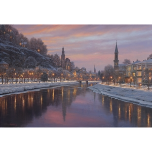 Stroll by the River by Mark Keathley