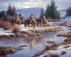 Blackfeet at Blacktail Ponds by Martin Grelle