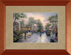 Carmel, Sunset on Ocean Ave. 12x16, Madison Frame