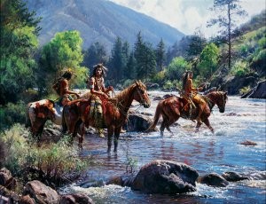 Cautious Crossing by Martin Grelle