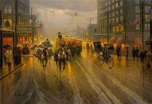 Early Downtown Houston by G. Harvey
