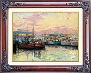 Fisherman's Wharf, SF Classic 12x18 Brandy