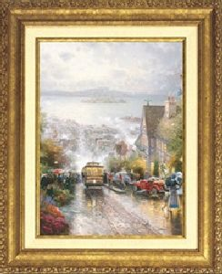 Hyde Street & the Bay, SF Classic 20x16 Gold Frame