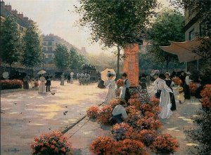 Morning Flower Market, Paris by Christa Kieffer