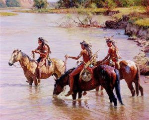 Offering to the River Spirit by Martin Grelle