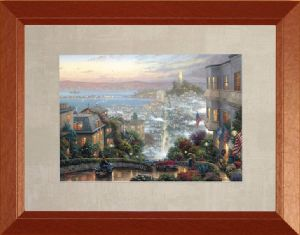 San Francisco, Lombard Street 12x16, Madison Frame