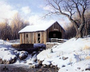 Snow Covered Bridge by Larry Dyke