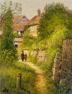 Springtime in Europe - Garden Walk by G. Harvey
