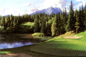 The 8th at Banff Springs by Larry Dyke