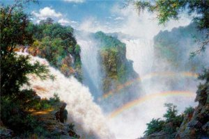Valley of the Mist - Victoria Falls by Larry Dyke