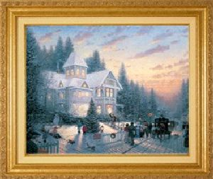 Victorian Christmas Classic 16x20 Gold Frame
