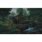 The Old Mill by James Seward 26x43 -Original