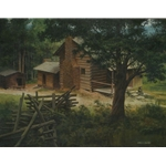Elijah Oliver's Cabin by James Seward 18x24 -Original