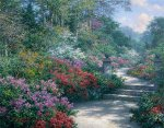 Azalea Path - Impressions of Biltmore by Larry Dyke