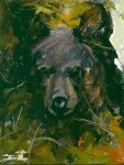 Black Bear Cub by Mary Roberson