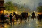 Cabbies at the Market by G. Harvey