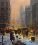 Evening Along the Avenue by G. Harvey