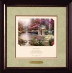 Garden of Prayer Inspirational Print Walnut Frame